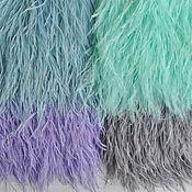 Перья страуса на ленте 50см, 4 цвета