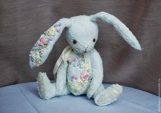 Мишки Тедди ручной работы. Ярмарка Мастеров - ручная работа. Купить Мартовский заяц. Handmade. Голубой, ручная авторская работа
