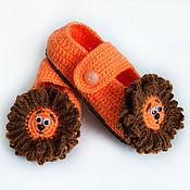 Работы для детей, handmade. Livemaster - original item Slippers baby Cubs. Handmade.