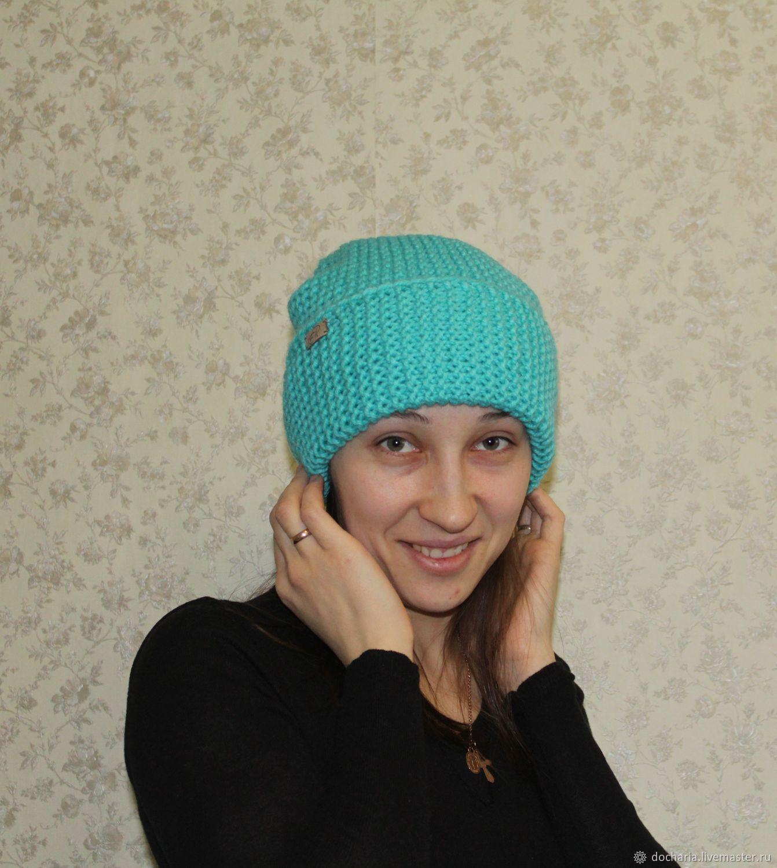 Схема вязания шапки платочной вязкой фото 475