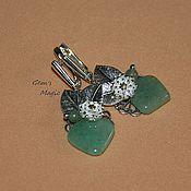Украшения handmade. Livemaster - original item Earrings made of green aventurine