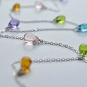 Украшения handmade. Livemaster - original item Long necklace, silver