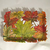 Посуда handmade. Livemaster - original item Copy of Autumn Maple Fruit Bowl. Handmade.