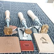Материалы для творчества handmade. Livemaster - original item Clichés for hot stamping. Handmade.