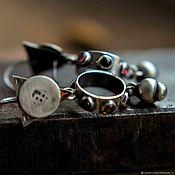 Украшения handmade. Livemaster - original item Sterling silver earrings with natural stones. Handmade.