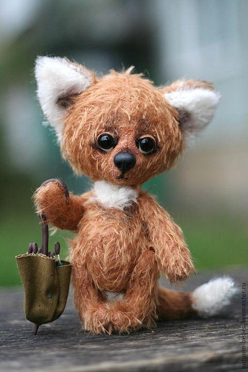 Мишки Тедди ручной работы. Ярмарка Мастеров - ручная работа. Купить Одинокий Лисенок Климентий. Handmade. Рыжий, лиса