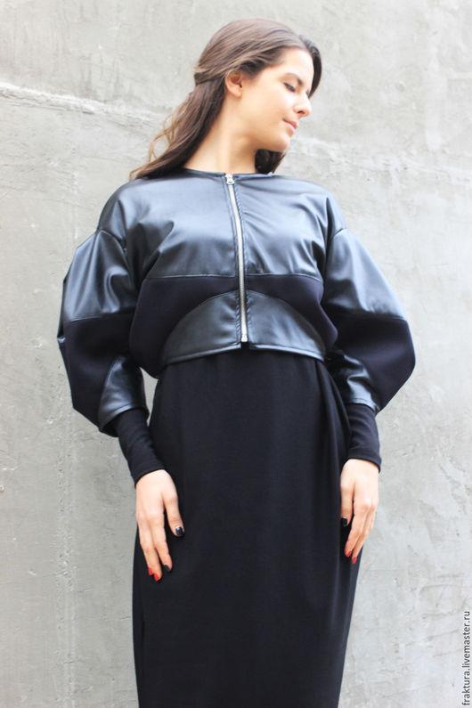"""Верхняя одежда ручной работы. Ярмарка Мастеров - ручная работа. Купить Куртка """"Asymmetric Leather"""" C0009. Handmade. Куртка"""