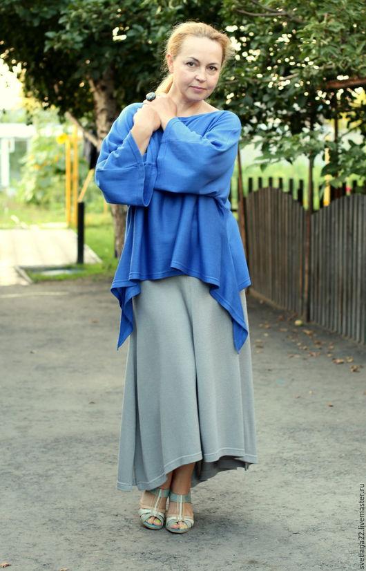Юбки ручной работы. Ярмарка Мастеров - ручная работа. Купить Летняя бохо юбка в светло-сером цвете. Handmade. Серый