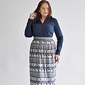 Одежда ручной работы. Ярмарка Мастеров - ручная работа Длинная юбка из штапеля Индийские Слоники. Handmade.
