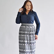 Одежда handmade. Livemaster - original item Long skirt from staple Indian Elephants. Handmade.