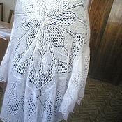 Одежда ручной работы. Ярмарка Мастеров - ручная работа ажурный платок. Handmade.