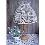 Для дома и интерьера handmade. Livemaster - original item Large lampshade for a table lamp or floor lamp, crochet. Handmade.