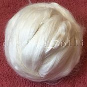 Материалы для творчества handmade. Livemaster - original item Bamboo fiber, white color, Germany, 10 g. Handmade.