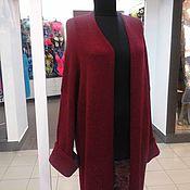 Одежда ручной работы. Ярмарка Мастеров - ручная работа кардиган бохо оверсайз цвета марсала. Handmade.