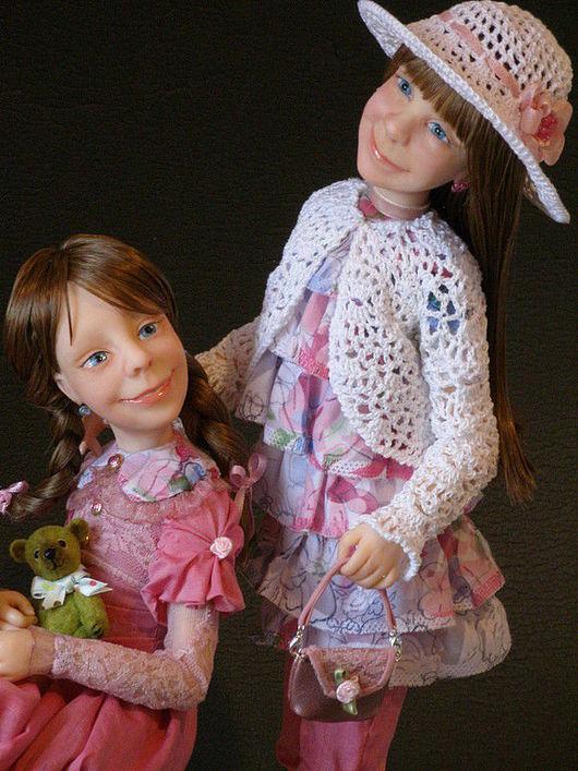 """Коллекционные куклы ручной работы. Ярмарка Мастеров - ручная работа. Купить Авторская  Портретная Кукла """" Папины принцессы"""" из полимерной глины. Handmade."""