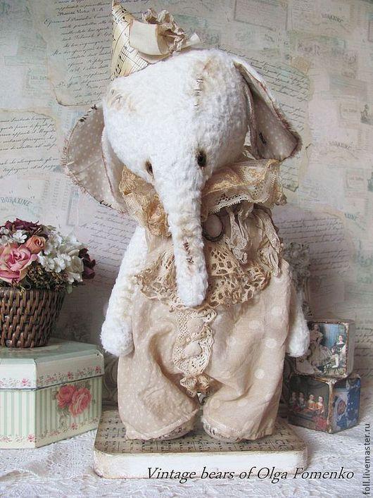 """Мишки Тедди ручной работы. Ярмарка Мастеров - ручная работа. Купить Слоник """"Лайви"""". Handmade. Слон, ретро, хлопок"""