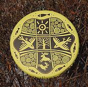 Музыкальные инструменты handmade. Livemaster - original item Sunny forest. Tambourine Vedic. Handmade.