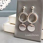 Украшения handmade. Livemaster - original item Stud earrings elongated in minimalist style graphics. Handmade.