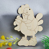 Материалы для творчества handmade. Livemaster - original item Amorous Cockerel with chamomile, a blank for creativity. Handmade.