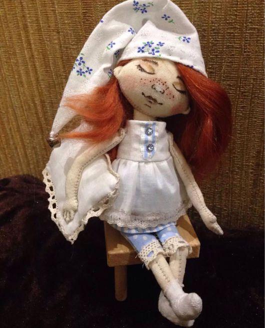 Коллекционные куклы ручной работы. Ярмарка Мастеров - ручная работа. Купить Сплюшка с подушкой. Handmade. Соня, сплюшка, сплюшкин
