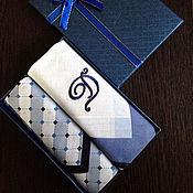Аксессуары handmade. Livemaster - original item Handkerchiefs men`s Luxury embroidered Monogram Monogram. Handmade.