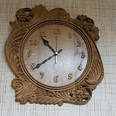 Для дома и интерьера. Ярмарка Мастеров - ручная работа Часы из Дуба. Handmade.