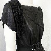 handmade. Livemaster - original item F_chernsherst T-shirt woolen T-shirt, color black.. Handmade.