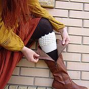 Аксессуары ручной работы. Ярмарка Мастеров - ручная работа Манжеты Гетры Вставки в Сапоги Boot Cuff Socks Вязаные крючком Ажурны. Handmade.
