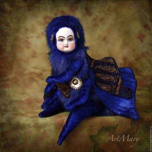 Коллекционные куклы ручной работы. Ярмарка Мастеров - ручная работа. Купить Метаморфоза. Handmade. Синий, золотой пояс, коллекционная кукла