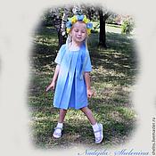 Работы для детей, ручной работы. Ярмарка Мастеров - ручная работа Платье со складками.. Handmade.