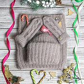 Аксессуары handmade. Livemaster - original item Knitted set of accessories