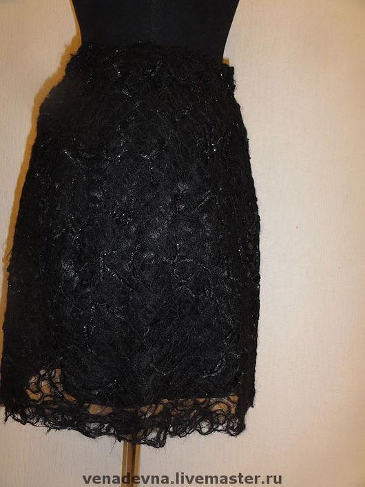 """Юбки ручной работы. Ярмарка Мастеров - ручная работа. Купить Юбка """"Ночь"""". Handmade. Нарядная юбка, декоративная пряжа"""