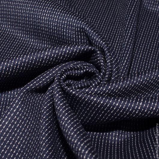 Шитье ручной работы. Ярмарка Мастеров - ручная работа. Купить Шерсть плательно-костюмная  темно-синяя ESCADA. Handmade.