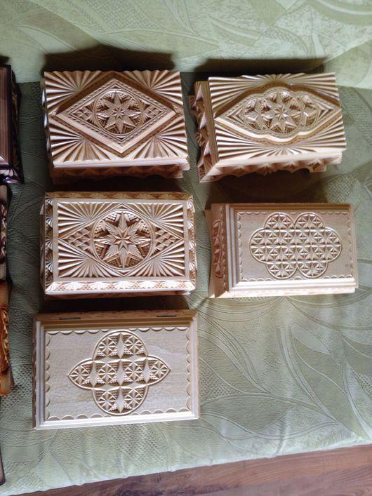 Шкатулки ручной работы. Ярмарка Мастеров - ручная работа. Купить Шкатулка деревянная резная неокрашенная. Handmade. Бежевый, натуральное дерево