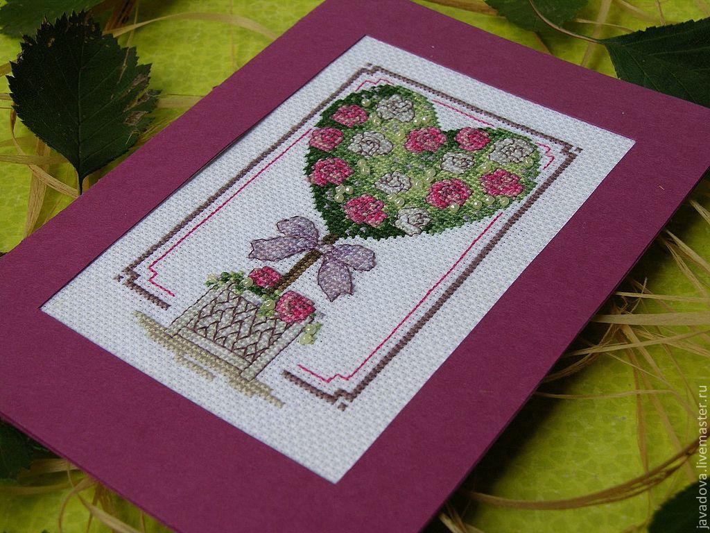 Вышивка на открытка