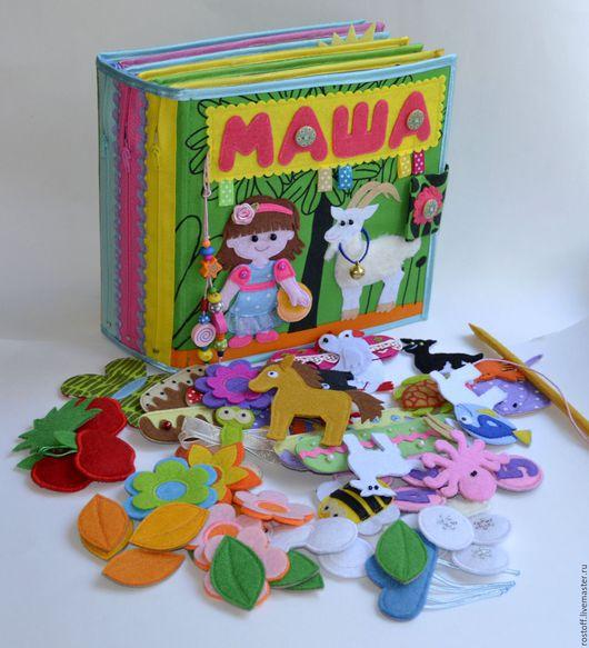 Развивающие игрушки ручной работы. Ярмарка Мастеров - ручная работа. Купить Развивающая книга от 2-х лет. Handmade. Комбинированный