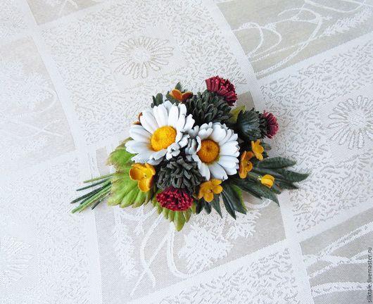Цветы из кожи, Ромашка, Украшение из кожи, Оригинальный подарок, Цветы на заказ, Колье из кожи, Серьги ромашки, Кожаные цветы, Украшения из цветов.