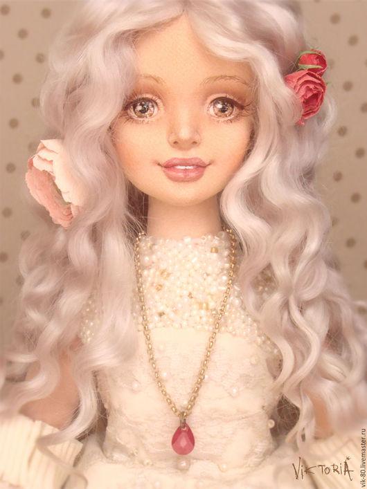 Коллекционные куклы ручной работы. Ярмарка Мастеров - ручная работа. Купить Джоанна. Handmade. Бледно-сиреневый, коллекционирование, ручная работа
