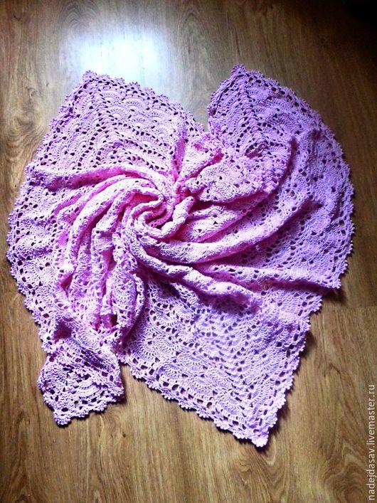 Пледы и одеяла ручной работы. Ярмарка Мастеров - ручная работа. Купить Плед крючком. Handmade. Розовый, детский плед