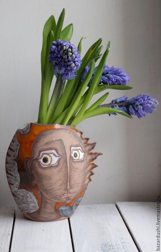 Керамическая ваза `Тот самый взгляд`