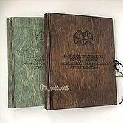 Канцелярские товары handmade. Livemaster - original item Wooden notebook with logo. Handmade.