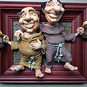 Куклы и игрушки ручной работы. Ярмарка Мастеров - ручная работа Куклы из полимерной глины.Монахи. Handmade.