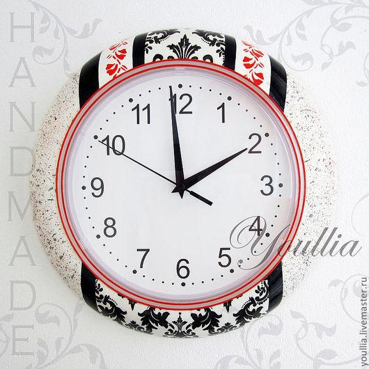 """Часы для дома ручной работы. Настенные часы ручной работы """"Орнамент"""", декупаж и ручная роспись. Youllia. Ярмарка Мастеров"""