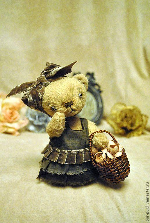 Мишки Тедди ручной работы. Ярмарка Мастеров - ручная работа. Купить Цветочница Манон. Handmade. Желтый, мишка девочка