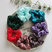 Украшения handmade. Livemaster - original item Large silk elastic band for hair - 100% natural silk satin. Handmade.