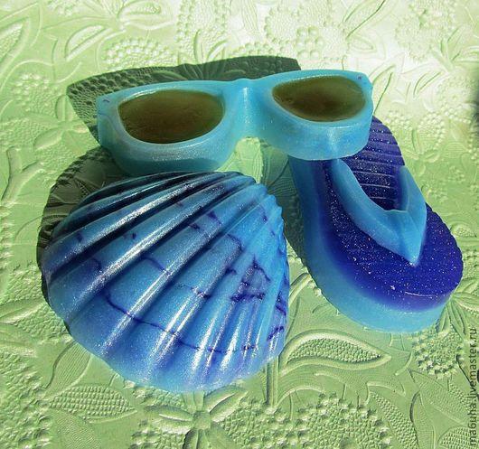 Мыло ручной работы. Ярмарка Мастеров - ручная работа. Купить Мыльный набор Пляжный. Handmade. Мыло ручной работы, море