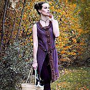 Одежда ручной работы. Ярмарка Мастеров - ручная работа Вязаный джемер Pandora , ажурная туника, длинный тонкий свитер бохо. Handmade.
