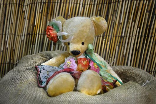 """Мишки Тедди ручной работы. Ярмарка Мастеров - ручная работа. Купить """"Эльза""""  плюшевый мишка. Handmade. Лимонный, мишка в одежке"""