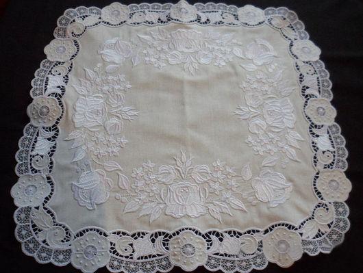 """Текстиль, ковры ручной работы. Ярмарка Мастеров - ручная работа. Купить Салфетка """" Бесконечная нежность"""". Handmade. Вышивка, кружево"""