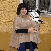 Одежда ручной работы. Ярмарка Мастеров - ручная работа СлингоПончо для слингомамы))) и пинетки (слингоодежда). Handmade.